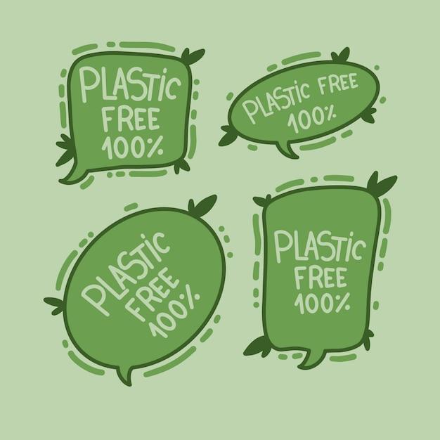 プラスチックなし Premiumベクター