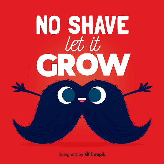 No shave let it grow movember Free Vector
