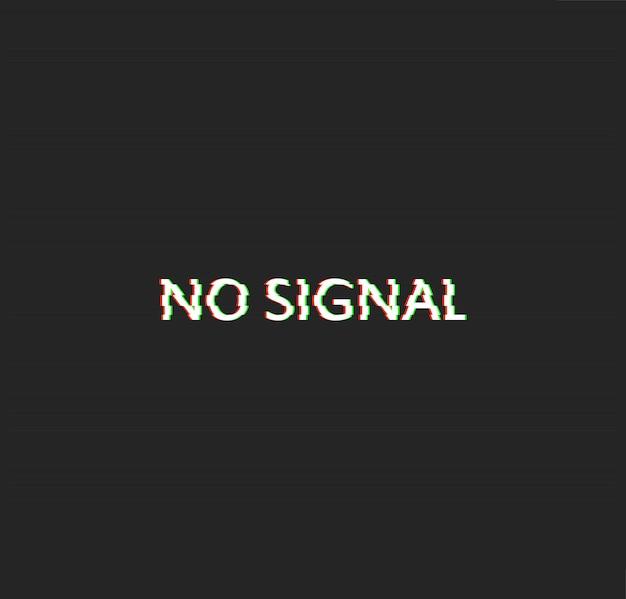 No signal glitch effect vector Premium Vector