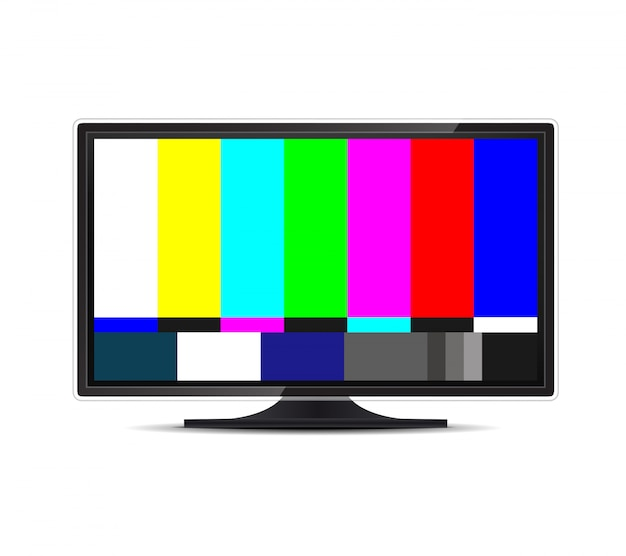 No signal tv test. television screen error. smpte. Premium Vector