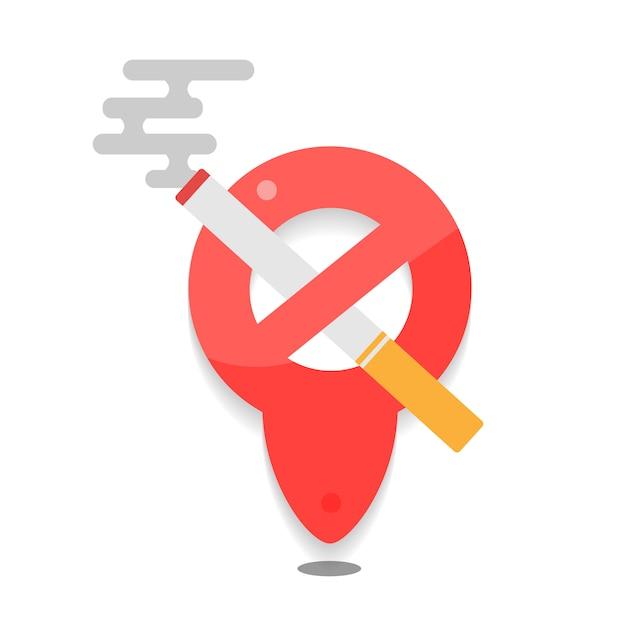禁煙の標識。煙のアイコンはありません。禁煙のシンボル。 Premiumベクター