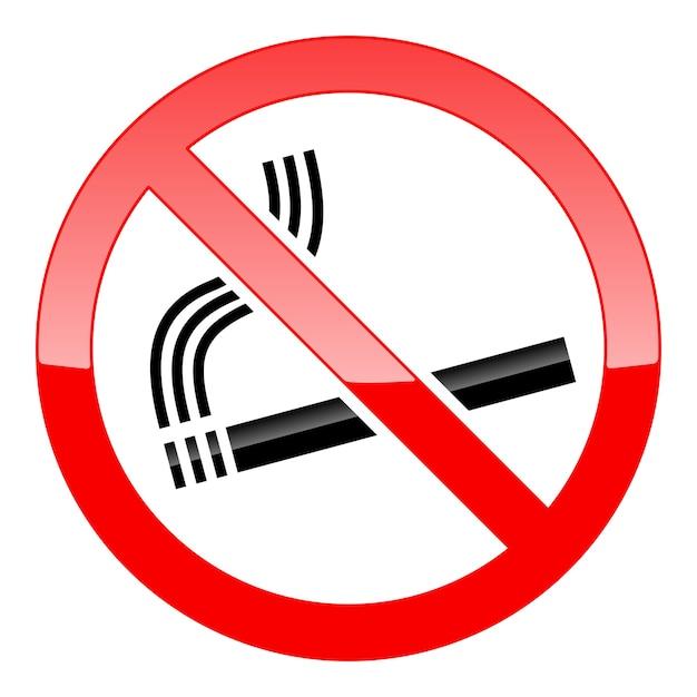 Знак не курить Бесплатные векторы