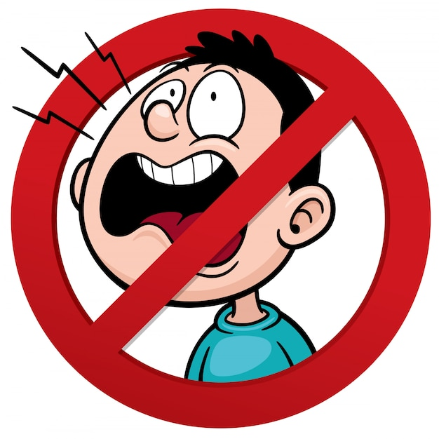 No talking sign Premium Vector