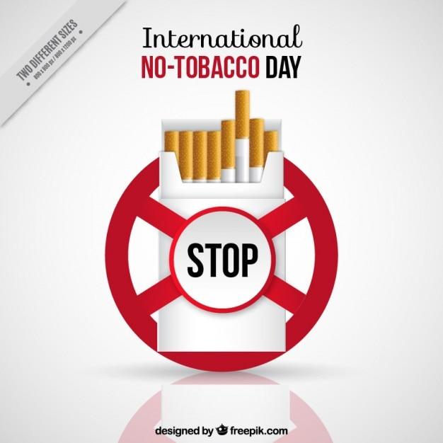 No-tobacco day background design Free Vector