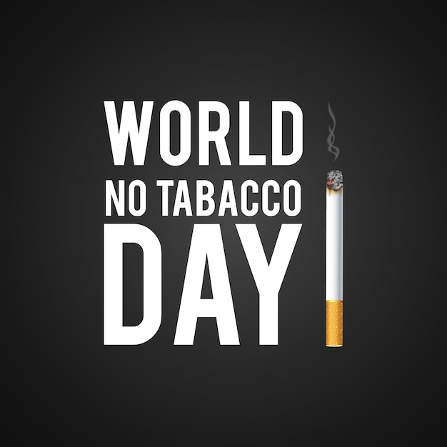 No tobacco day design Free Vector