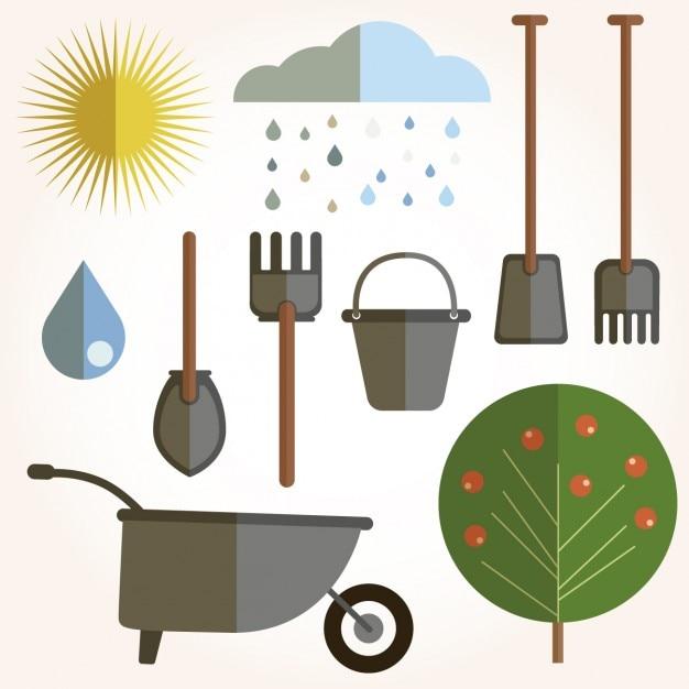 Сельское хозяйство фон цветной мультфильм дизайн иконки