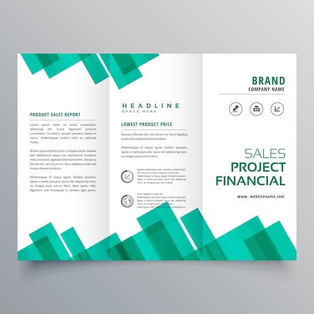 エレガントな幾何学的なビジネスパンフレットベクトルデザインテンプレート 無料ベクター