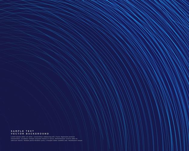 青い曲線の線ベクトルと暗い背景 無料ベクター