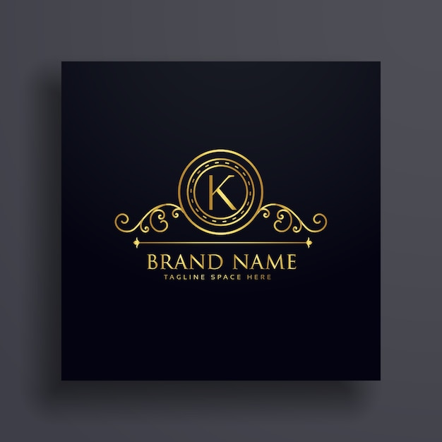 プレミアムレターKブランドロゴコンセプトデザイン 無料ベクター