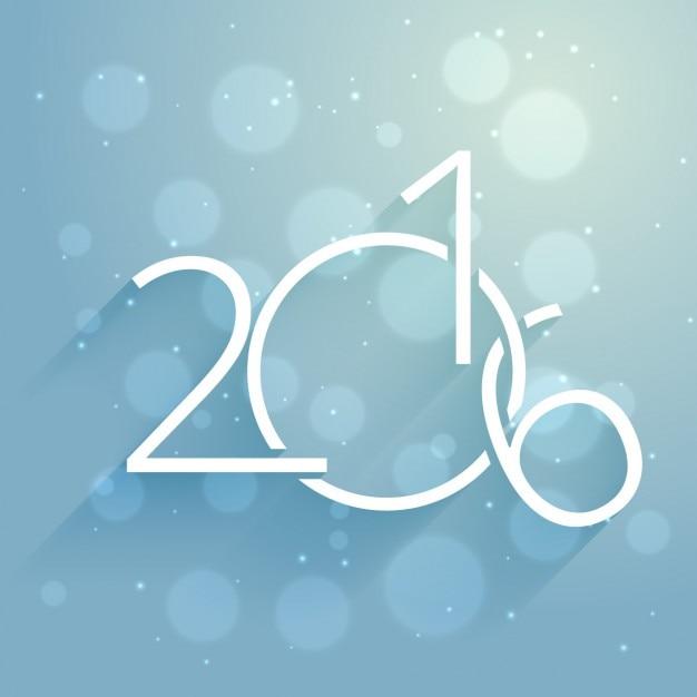 творческий новый год 2 016 карт Бесплатные векторы