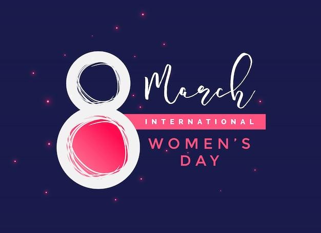 国際女性の日の背景 無料ベクター
