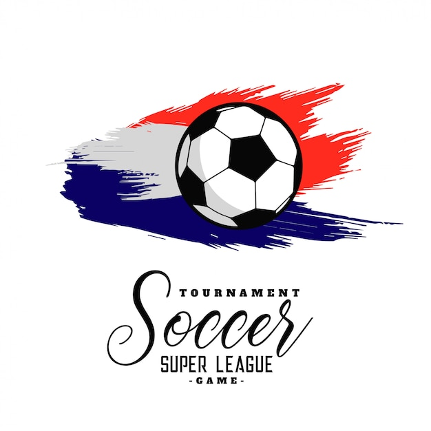 抽象的なサッカーの水彩の背景のデザイン 無料ベクター