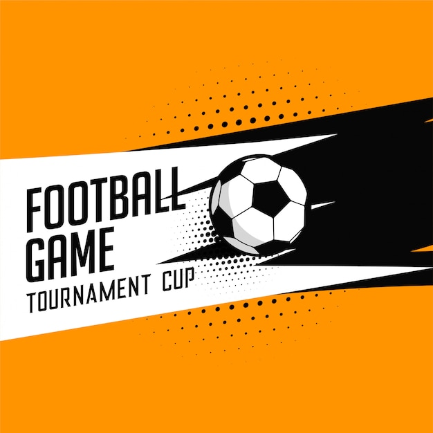 サッカーサッカートーナメントゲームのベクトルの背景 無料ベクター