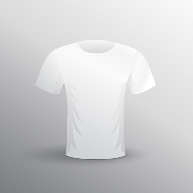 グレーの背景にTシャツモックアップ 無料ベクター
