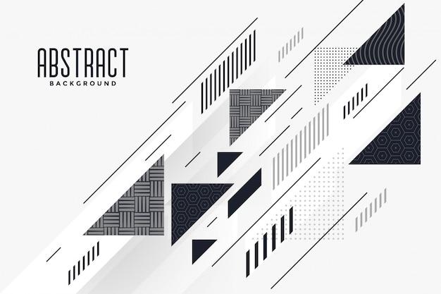 現代の抽象的な三角形と線の構成の背景 無料ベクター