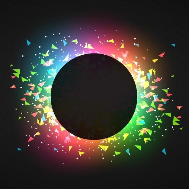 абстрактные confettin в светящегося темном фоне Бесплатные векторы