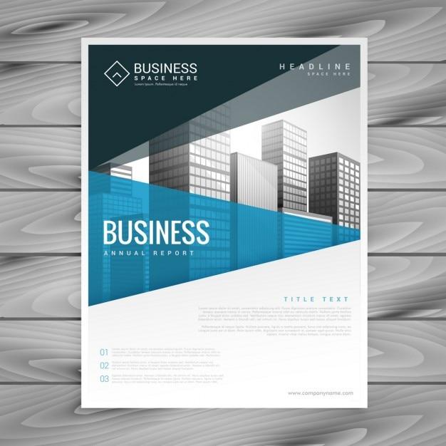 ビジネスプレゼンテーション用パンフレットのテンプレートデザイン 無料ベクター