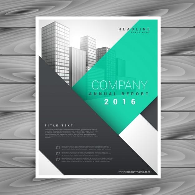 近代的なきれいなビジネスパンフレットプレゼンテーションテンプレート 無料ベクター