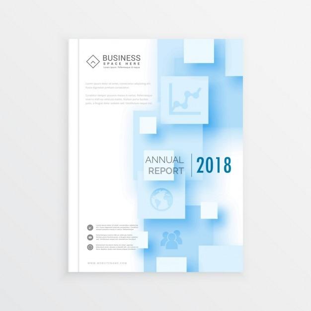3D四角のA4パンフレットテンプレートレイアウト年次報告書表紙デザイン雑誌チラシデザイン ベクター画像 | 無料ダウンロード