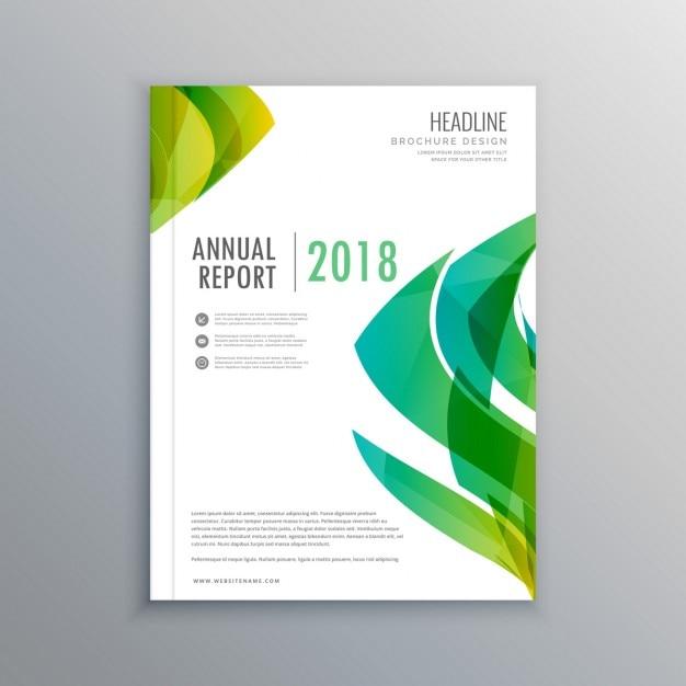スタイリッシュな緑の雑誌の表紙のデザインテンプレート ベクター画像 無料ダウンロード