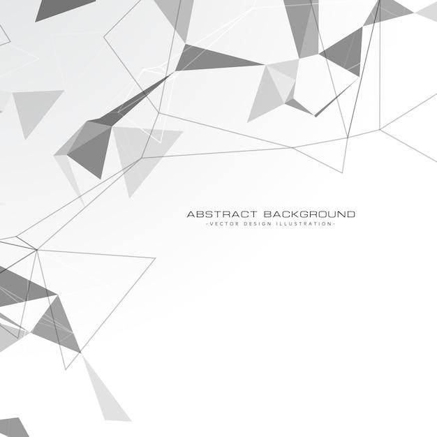 白の抽象的な三角形の背景 無料ベクター