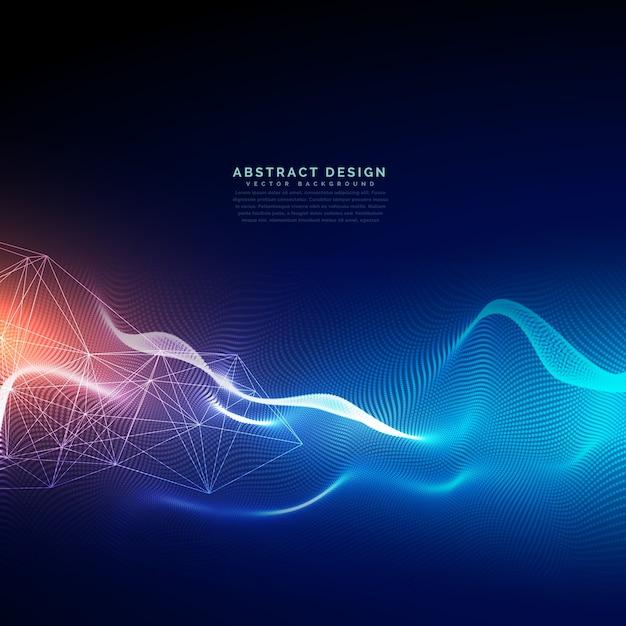 光効果を伴う抽象的な技術背景 無料ベクター