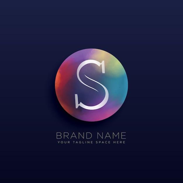 手紙S抽象的なロゴコンセプトテンプレート 無料ベクター