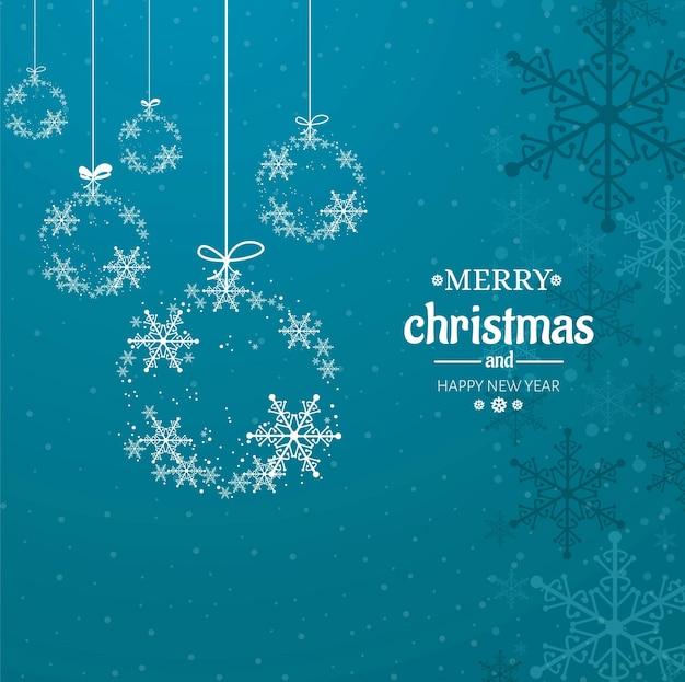 Современный веселый рождественский фон Бесплатные векторы