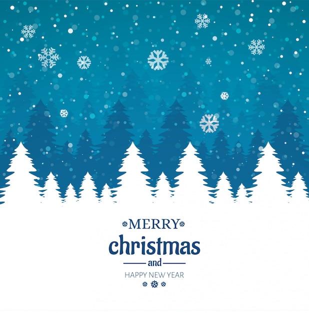 Веселая рождественская открытка Бесплатные векторы