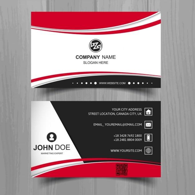現代のビジネスカード 無料ベクター