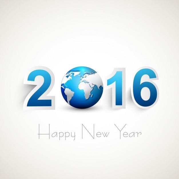 2016 новый год текст Бесплатные векторы