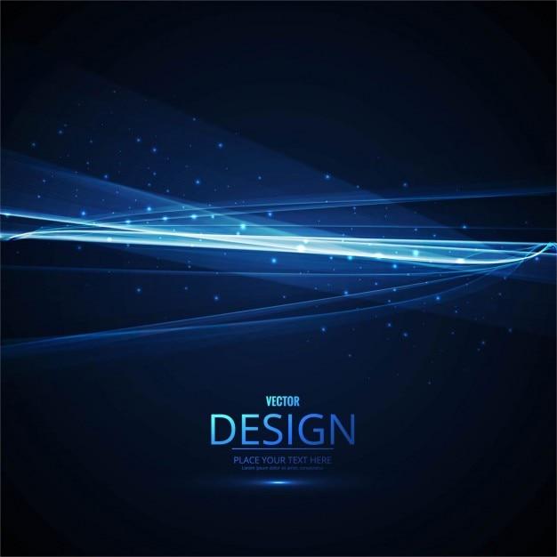 抽象的な青い波ラインの背景ポスター 無料ベクター