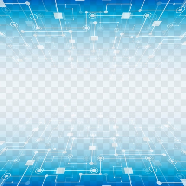 透明な背景を持つ近代的な技術要素 無料ベクター