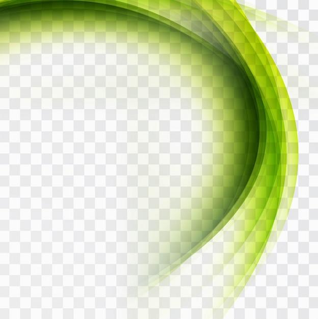 現代緑の波背景 無料ベクター