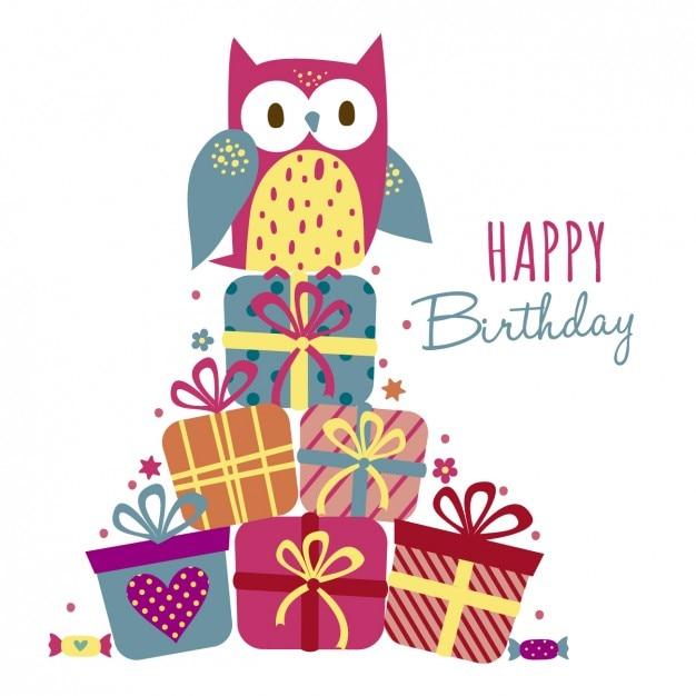 Открытки, наклейки на открытку с днем рождения