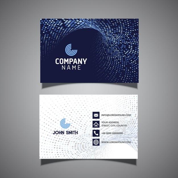 現代の網点のデザインとビジネスカードテンプレート 無料ベクター
