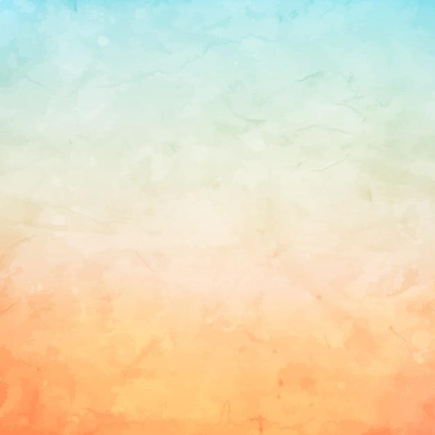パステルカラーを使用したグランジ水彩の背景 無料ベクター