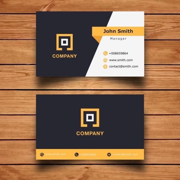 現代の企業のビジネスカードのデザイン 無料ベクター