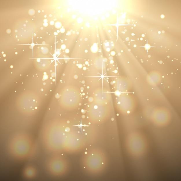 太陽の光とゴールデン抽象的な背景 無料ベクター