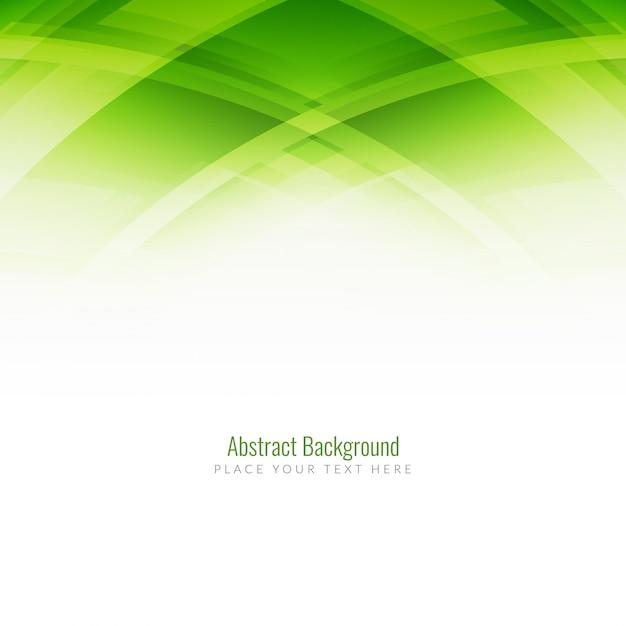 エレガント緑色近代的な背景デザイン 無料ベクター