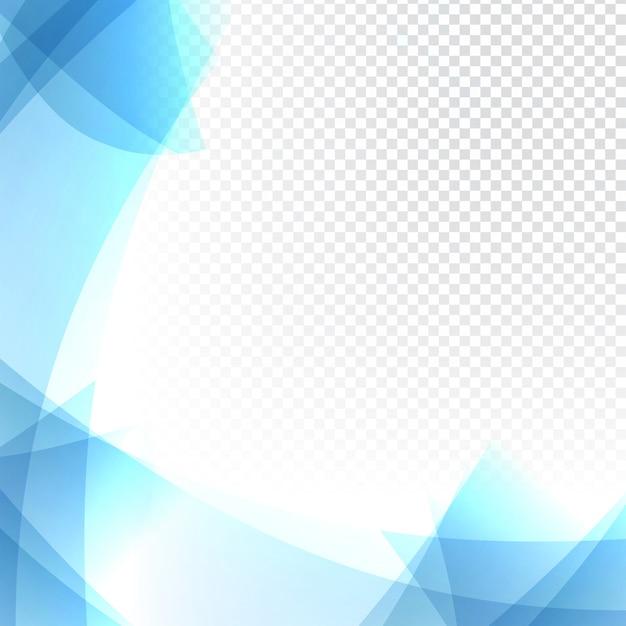 透明なブルーの波状の背景 無料ベクター