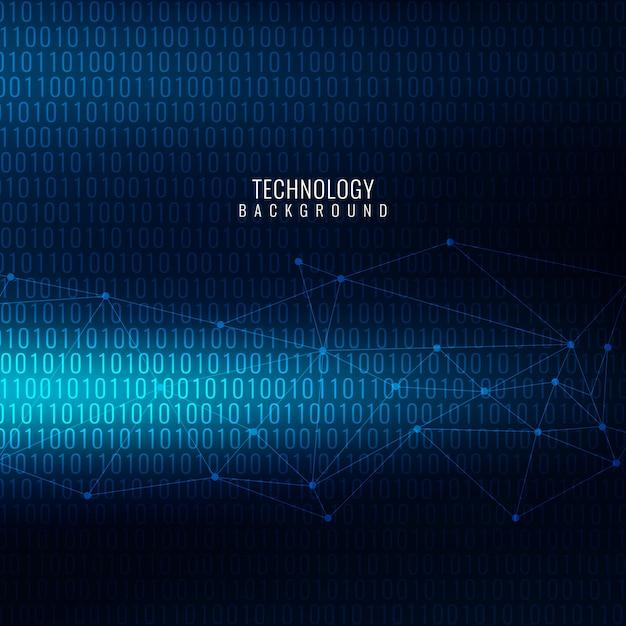青色近代的な技術のテーマの背景 無料ベクター