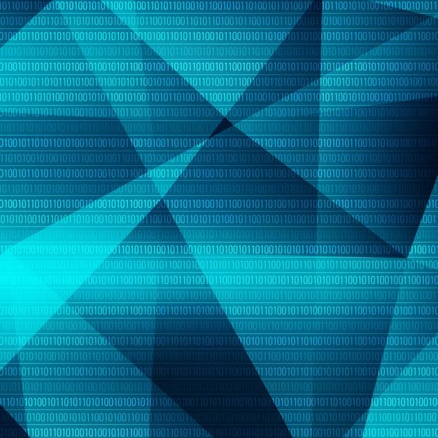 テクノロジーのテーマ青色の幾何学的な背景 無料ベクター