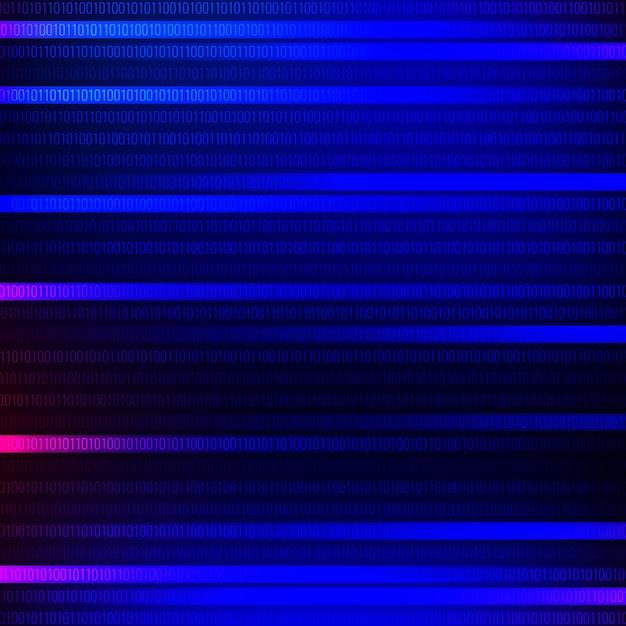 抽象的な技術のテーマ青色の背景 無料ベクター
