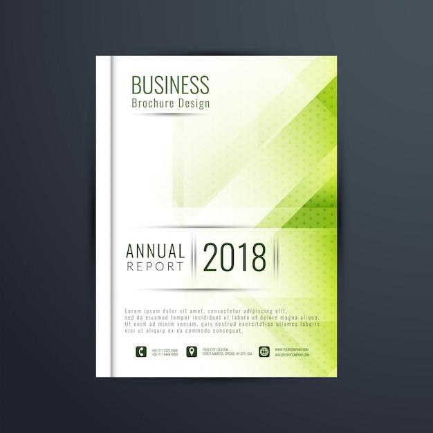 近代的な緑色のビジネスのパンフレットのテンプレート 無料ベクター