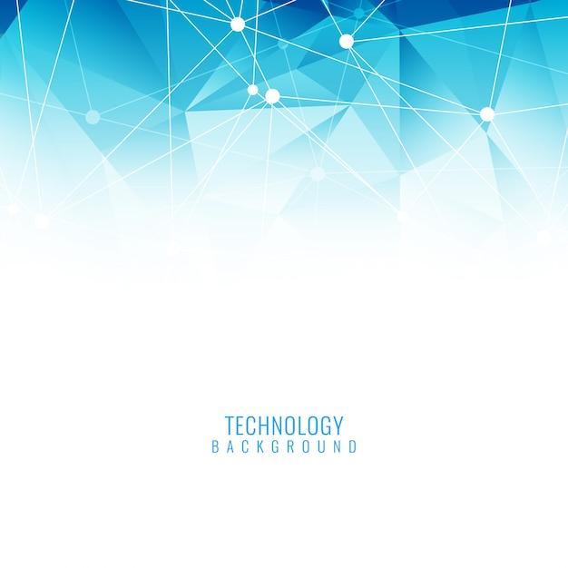 青色のエレガントな技術の背景 無料ベクター