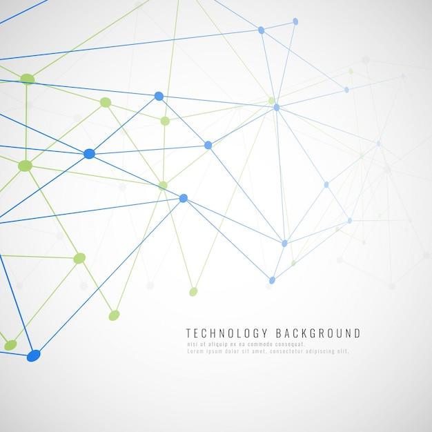 抽象的な現代技術の背景 無料ベクター