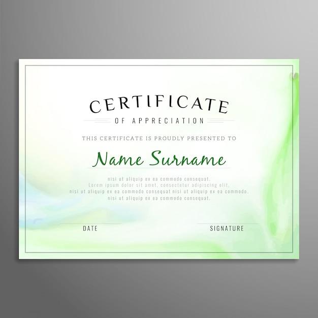 Абстрактный элегантный фон сертификата Вектор