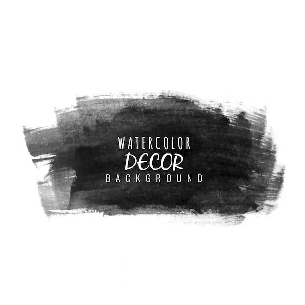 抽象的な黒の水彩汚れの背景 無料ベクター