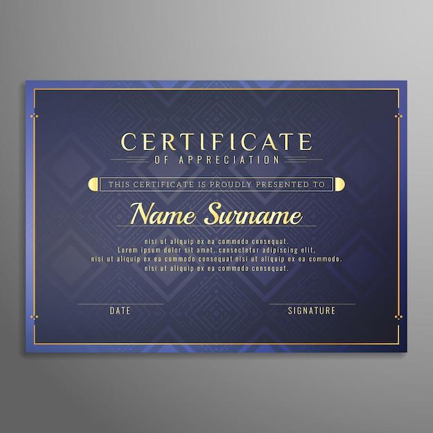 Абстрактный фон дизайна сертификата Бесплатные векторы